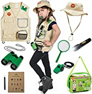 Born Toys Explorer Kit for Kids Children's Toy with Washable Premium Backyard Safari Vest and Adventure ki