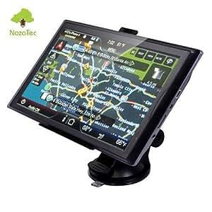 Noza Tec GPS 7 Pouces Voiture Auto Navigon MP4 128M POI FM Speedcam Lecteur Multimédia Europe 45 pays 4G Gratuits à Vie