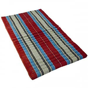 matelas thai pliable pouf capoc coton xl rainbow beach 190x 110x8cm thai 40. Black Bedroom Furniture Sets. Home Design Ideas