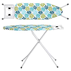 Oumffy X-Pres Ace - Extra Large Foldable Ironing Board with Ironing Table with Iron Stand (ironing board) (Firozi)