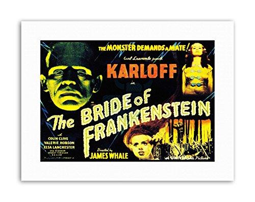 Wee Blue Coo LTD Sequel Bride Frankenstein Karloff Whale Horror USA Poster Picture Film Canvas -