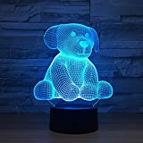 Bbdeng Luz Nocturna 3D Toque De Color LED Ambiente Ahorro De Energía Y Dormir Bebé Creativo Mesa Lámpara USB Or Batería Muñeca De Trapo Remote control