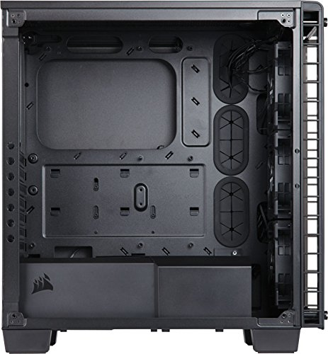 Corsair Crystal Series CC-9011101-WW Tempered Glass ATX Mid Tower Case (Transparent)