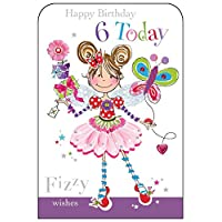 Jonny Javelin Girl Age 6 Birthday Card
