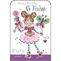 Jonny Javelin Girl Age 6 Birthday Card