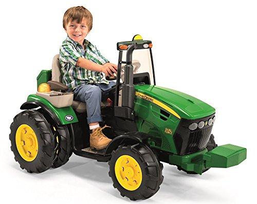 #12V PEG PEREGO John Deere DUAL Force Elektro Traktor für Kinder#