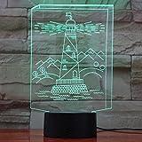 LWJZQT veilleuse 3D Led Lumières Bâtiment Tour Forme 7 Couleurs Changement Bébé Nuit Lumière Intérieur Décor Usb Éclairage Tactile Lampes...