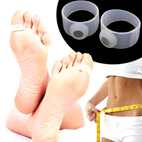 New trends White : 1 Pc Silicone Magnetic Foot Massage Toe Ring Durable Weight Loss Magnetic Silicon Foot Care Diet Foot Massager Toe Rings A6