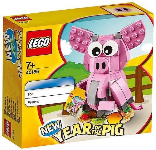LEGO® - Das Jahr des Schweinchens Iconic Bauspiele 40186, Mehrfarbig