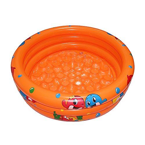 Autbye Baby Pool Schwimmbad Aufblasbarer Pool 2018 Dauerhaftes Freundliches PVC 36 x 10 Zoll Planschbecken Tragbares im Freien Innenkind Becken Badewanne Bällebecken (Orange)