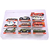Breno Metal Army, Ambulance, Fire Truck, Helicopter And Super Fast Running Vehicles Play Set Ten (10) Cars (Multicolor)