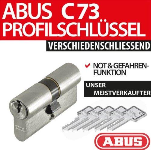 Profilzylinder mit Not- und Gefahrenfunktion C 73, 40/50 inkl. 5 Schlüssel