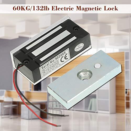 51EyTllSo%2BL - KKmoon 60KG / 132lb Cerradura Eléctrica de Perno NC 12V para Sistema de Control Acceso Entrada de Puerta