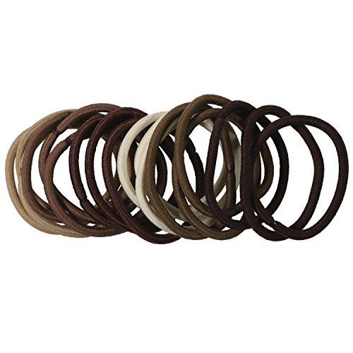 lot-de-18-elastiques-en-lycra-marron-accessoire-cheveux-coiffure
