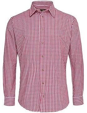 Hammerschmid Trachtenhemd Arno Slim Fit in Rot
