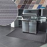 casa pura Grillmatte | Unterlage für Grill zum Schutz von Balkon und Terrasse | robuster + abwaschbarer Bodenschutz in 3 Größen - Bologna 90x180 cm