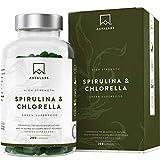 Cápsulas de Espirulina y Chlorella [1800 mg/Dosis...