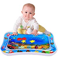 Inflatable Baby Mat for Stimulation Growth Tummy Time Water Play Mat for Infants & Toddlers