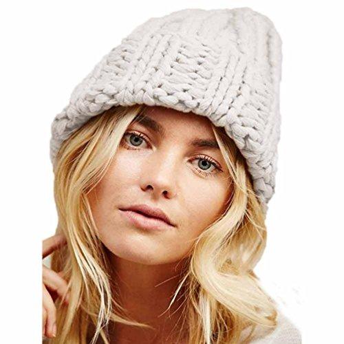 Damen Winter Hüte Mädchen Caps, Zolimx Frauen halten Warm Manuelle Wolle gestrickte Hut (Hop Kostüme Hip Australien)