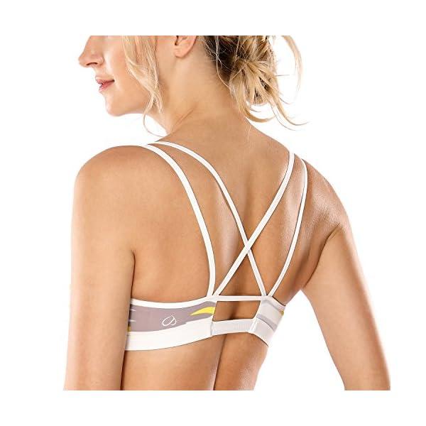 b559fd2378 CRZ YOGA Women s Removable Padded Criss Cross Back Gym Strappy Yoga Sports  Bra