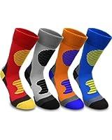 4 Paar Multifunktionale Sportsocken mit Schien- & Fußrückenpolster in verschiedenen Farben [35-50]