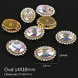 PENVEAT Costura Redonda en pedrería Base de Oro de Diamantes de...