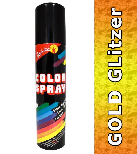 NET TOYS Glitzerspray gold Haar Spray Glitzer Colorspray Haarcoloration Haarspray Haarsprays Colorsprays Haarcolorationen