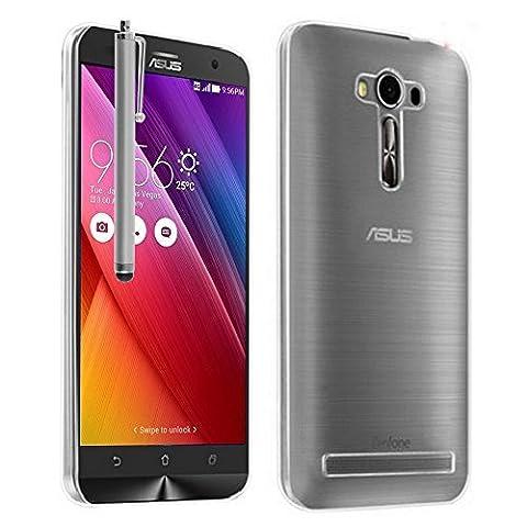 """Asus Zenfone 2 Laser ZE600KL/ ZE601KL 6"""" Étui HCN PHONE® Coque Silicone Gel Souple Ultra Fine pour Asus Zenfone 2 Laser ZE600KL/ ZE601KL 6"""" + stylet - TRANSPARENT"""