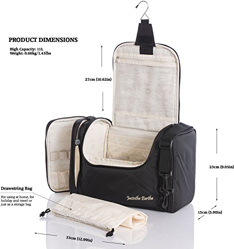 Extra Large Travel Toiletry Bag   Portable Makeup Organiser  Water  Resistant Shower Wash ... d338e3a748191
