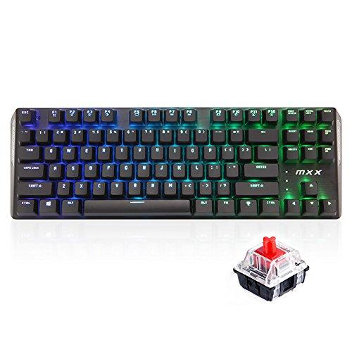 RantoPad MXX Gaming-Tastatur mechanisch, QWERTY, 87Tasten RGB-Red