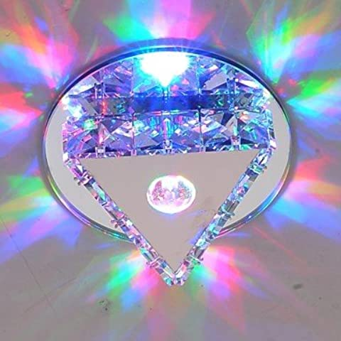 Per il montaggio a incasso cristallo LED luci a soffitto pendente luce luci 3W RGB in acciaio inox , bianco caldo 90V-240V