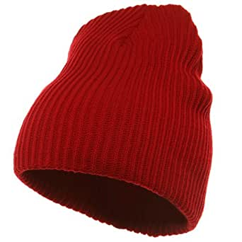 Bonnet à grosse côtes - rouge - Homme