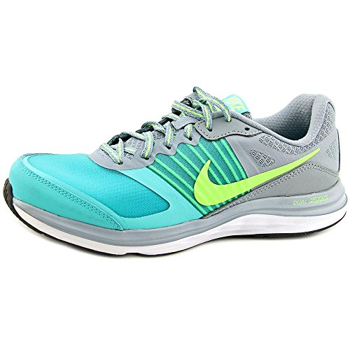 Nike Wmns Dual Fusion X, Scarpe sportive, Donna dove grey flash lime white 004