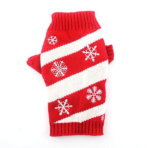 DOGGYZSTYLE Vintage weihnachtliches Urlaub Festive Pet Katze Hund Pullover Kleidung, XL, Snowflake (Urlaub Kostüm Firma)