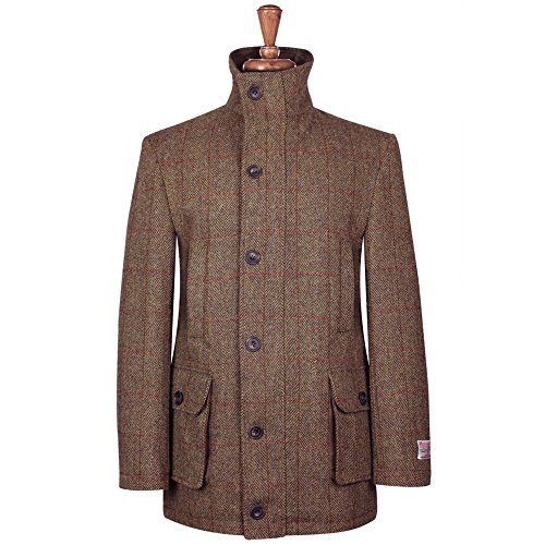 Harris Tweed Herren Jacke Gr. XXL, Brown/Blue Check (Tweed Harris)