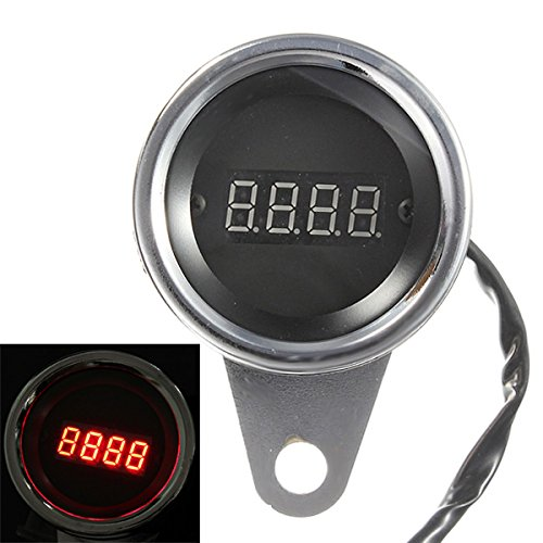 Alamor Led Motorrad Digital Tachometer Tacho Tacho Drehzahlmesser 2 Zylinder