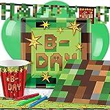 TNT Pixel Minecraft Kindergeburtstag Premium Party Deko Set - Für 8 Personen
