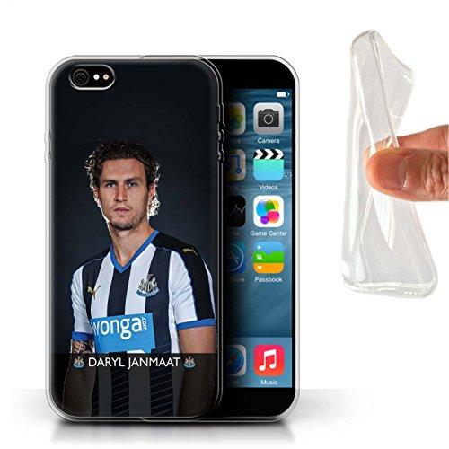 Offiziell Newcastle United FC Hülle / Gel TPU Case für Apple iPhone 6+/Plus 5.5 / Pack 25pcs Muster / NUFC Fussballspieler 15/16 Kollektion Janmaat