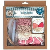 D.I.Y with Toga Kit de démarrage Punch Needle, Plastique, Laine Rose et Beige, Taille du Pack : 20x23x4cm