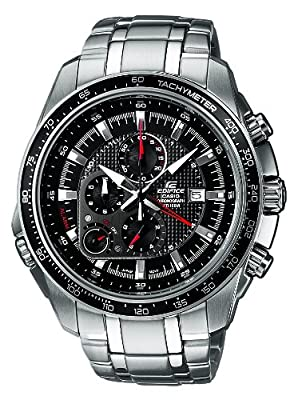 CASIO EF-545D-1AVEF Edifice de cuarzo, correa de acero inoxidable color plata