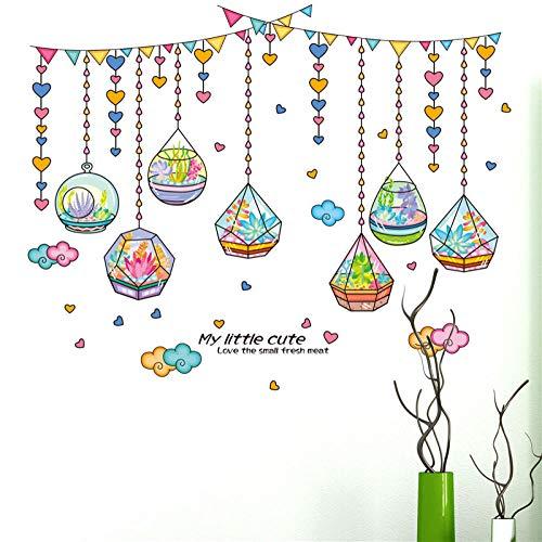 Saftigen Kristall Flasche Wandaufkleber Liebe Hausgarten Dekor Kinder Schlafzimmer Wohnzimmer Hängen Vorhang