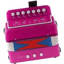 7 Claves Juguete Educativo de Instrumento Musical Niños Acordeón - Fuschia