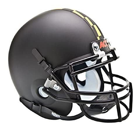 NCAA Maryland Terrapins Collectible Alt 1 Mini Helmet, Matte Black by Schutt