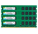 DUOMEIQI 8GB Kit (4 X 2GB) DDR2 800MHz UDIMM 2RX8 PC2-6300 PC2-6400 240pin CL6 1.8v Unbuffered Non-ECC Dual Channel Desktop RAM Memory Module for Intel AMD System
