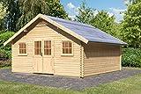Karibu Gartenhaus Pirion 6 Blockbohle 40 mm