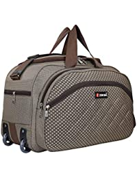 Zion Bag Polyester 60 Ltr Brown Duffel Bag With 2 Wheels