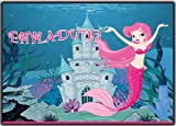 Einladungskarten Kinder-Geburtstag Meerjungfrau im Set günstig Prinzessin Mädchen Rosa Pink (12 Stück) Einladung Poolparty Schwimmbad schwimmen