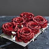 Lot de 6têtes Rouge 9cm Fleurs Artificielles Rose de DPI, 3 pièces