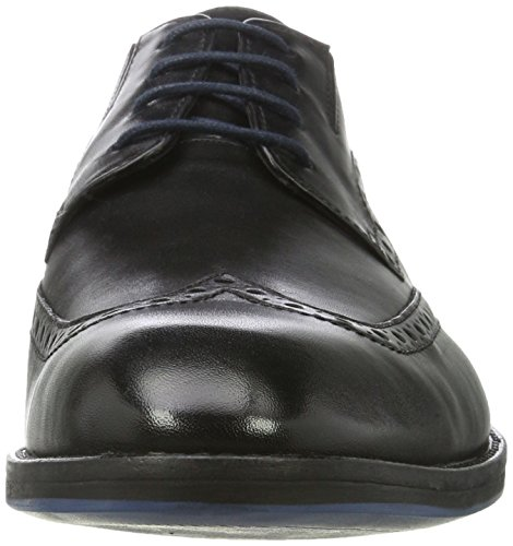 Clarks Prangley Limit, Derby Homme Noir (Black Leather)