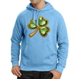 lepni.me Kapuzenpullover Irish Shamrock St Patricks Day Clothing (Large Hellblau Mehrfarben)